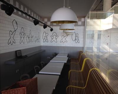 Mimari projelerde kullanılmak üzere özel cafe ve restoran baskılı fayansları.