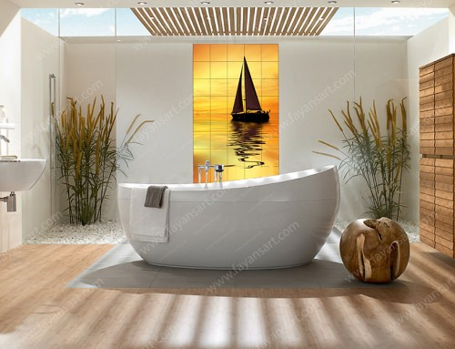 custom bathroom tile models