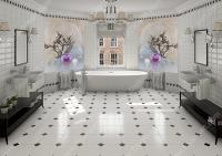resimli banyo fayans modeli