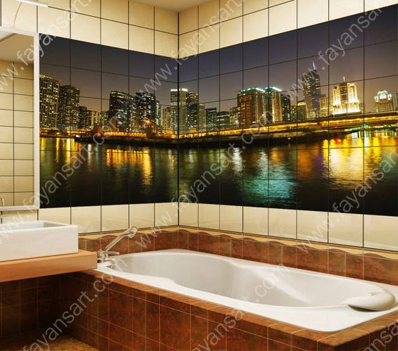 City Theme Bathroom Tile