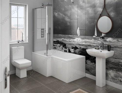Black White Custom Bathroom Tile Models